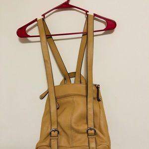 Tignanello Bags - TIGNANELLO  Pebble Leather Backpack Pocket Purse